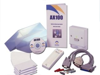 AX 100 Access Control Kit - Standalone single RFID reader  & controller and cards or keyfobs and plug & play Windows software