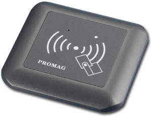 Promag LBR100 125kHz RFID - LBR200 13.56MHz MIFARE® Readers - LBR100 RFID / LBR 200 MIFARE Readers with wall mounting for European type lightswitch box
