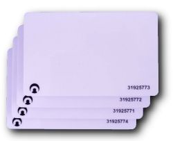 AX Proximity Card - RFID cards for use with AX reader, suitable for photo ID printing, encoded and numbered
