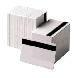 Blank White Magnetic Stripe Cards - Size: W86 x H55 x D2mm<br>Colour: White