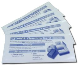 EZ-MICR - MICR Cheque Reader Cleaning Cards - MICR Cleaning Cards for removal of contaminants from cheque reader drive rollers and MICR heads