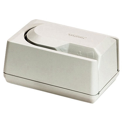 MAGTEK Mini MICR Cheque Reader - Small footprint, low cost MICR cheque reader, Optional 3-track Magnetic Stripe Reader.