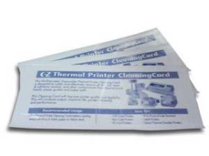 EZ-Thermal - Thermal Printer Cleaning Cards  (50.8mm) - PreSaturated, Effectively removes dirt, ink, adhesive residue etc from thermal print heads / paper path