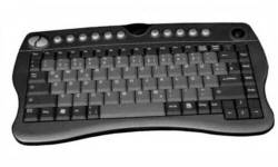 AK4400-TFU -  RF Wireless Keyboard with Trackball - 2.4GHz RF Wireless  19mm Trackball Works on Playstation 3, Xbox360 & Wii*