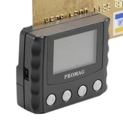 Promag MSR120-CP - Portable Anti-Fraud Data Collector - Portable magnetic stripe reader with LCD for data verification. Will NOT collect bank card data