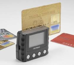 Promag MSR999 - Portable Bank Card Checker - Check magnetic stripe matches printed/embossed data on financial cards.