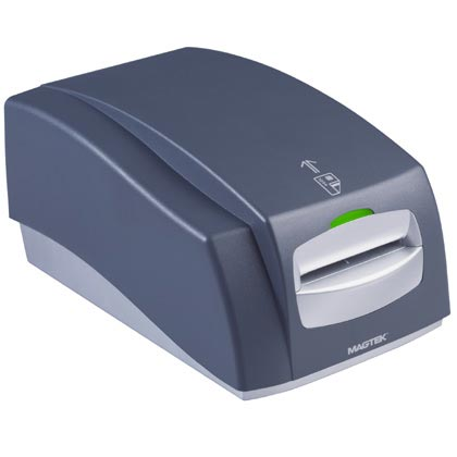 Magtek Intellistripe 380 Motorised Magnetic Card Encoder - Magtek motorised magstripe and smart card encoder