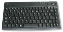 AK-440-T Mini Keyboard with Trackball (USB/PS2) - Rugged 86 Key notebook style layout Self-cleaning trackball.
