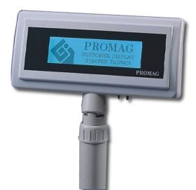 Promag DSP820 - LCD Graphic Customer Pole Display - 240 x 64 pixels with backlight, up to 20 x 4 characters(4 lines)