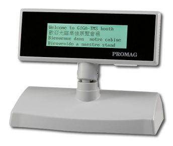 Promag DSP830 - LCD Special Character Pole Display - 240 x 64 pixels with backlight, up to 30 x 4 characters(4 lines)