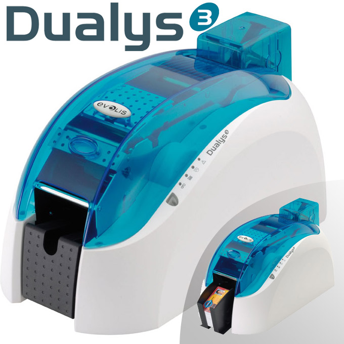 Evolis Dualys - Double Sided Card Printer - For dual-sided printing in high-definition and four-color process