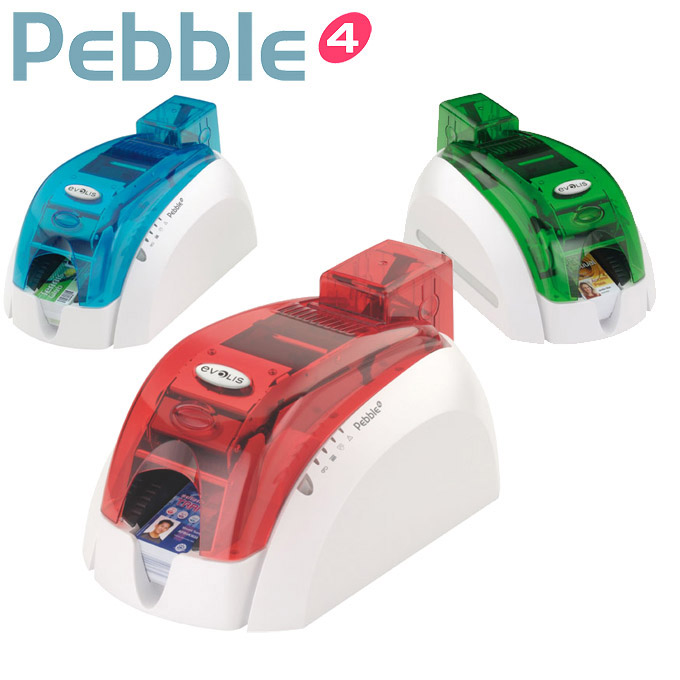 Evolis Pebble Colour Photo-ID Card Printer  - Full colour ID card printer designed to simplify printing on plastic cards