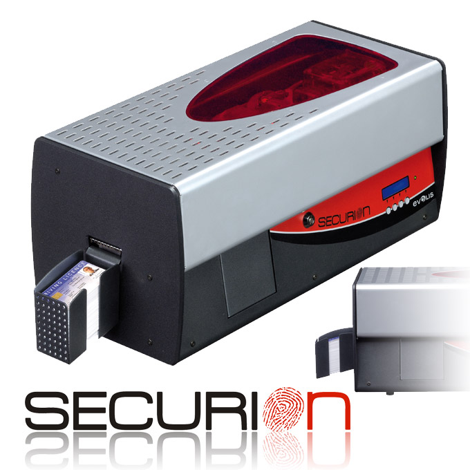 Evolis Securion - Dual Sided Card Printer with Encoding and Lamination - For double-sided printing, encoding and lamination of secure badges.