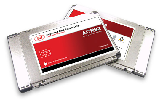 ACS ACR92 - PCMCIA Smart Card Reader - Conforms to all major standards such as PC/SC, ISO 7816, EMV Level 1.