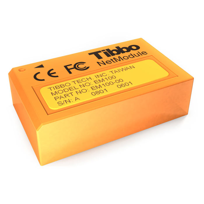 Tibbo EM100 - Ethernet to Serial Converter Module - 10 Base-T Ethernet to Serial Module